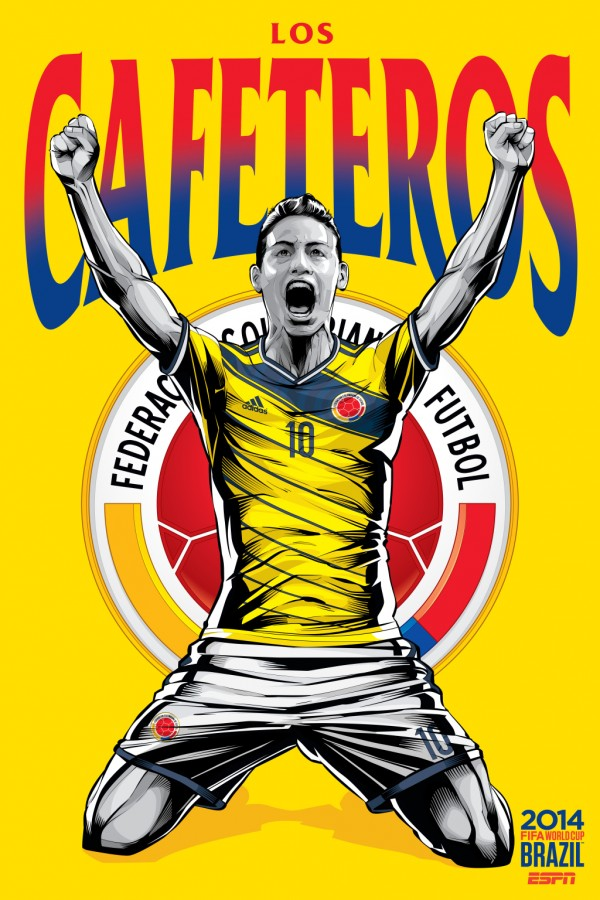 colombia world cup poster espn 600x900 Colombia 4 1 Japan: Match Highlights [VIDEO]; Los Cafeteros Crush Japan