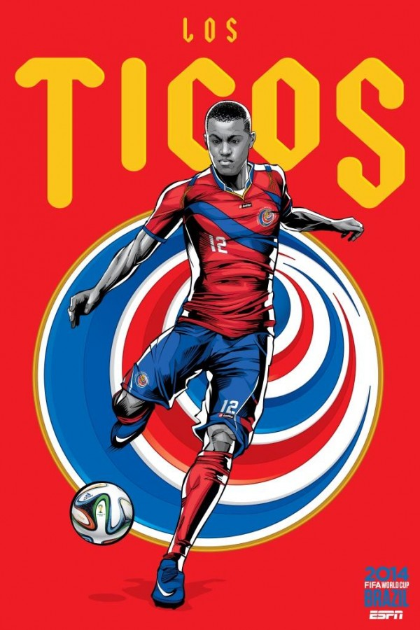 costa rica world cup poster espn 600x900 Spirited Costa Rica Progress, Disappointing England Crash Out