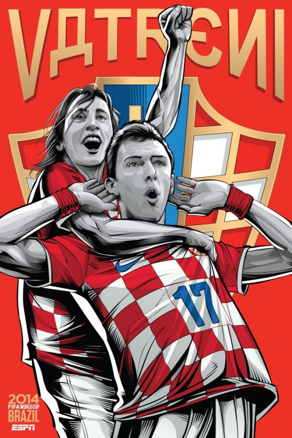 croatia world cup poster espn 600x900 View World Cup Posters For All 32 Teams At Brazil 2014 From ESPN