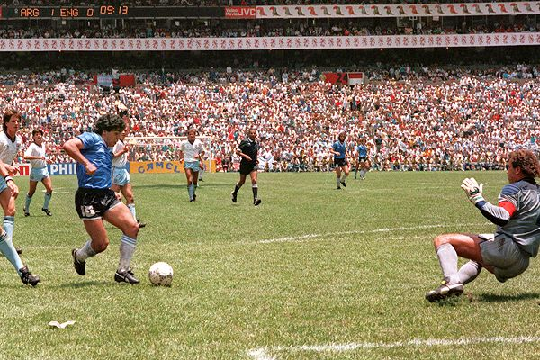 diego maradona WATCH The Goal of The Century Scored By Diego Maradona in the 1986 World Cup [VIDEO]