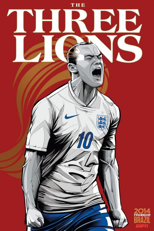 england world cup poster espn 600x900 England Down But Not Out Of 2014 FIFA World Cup
