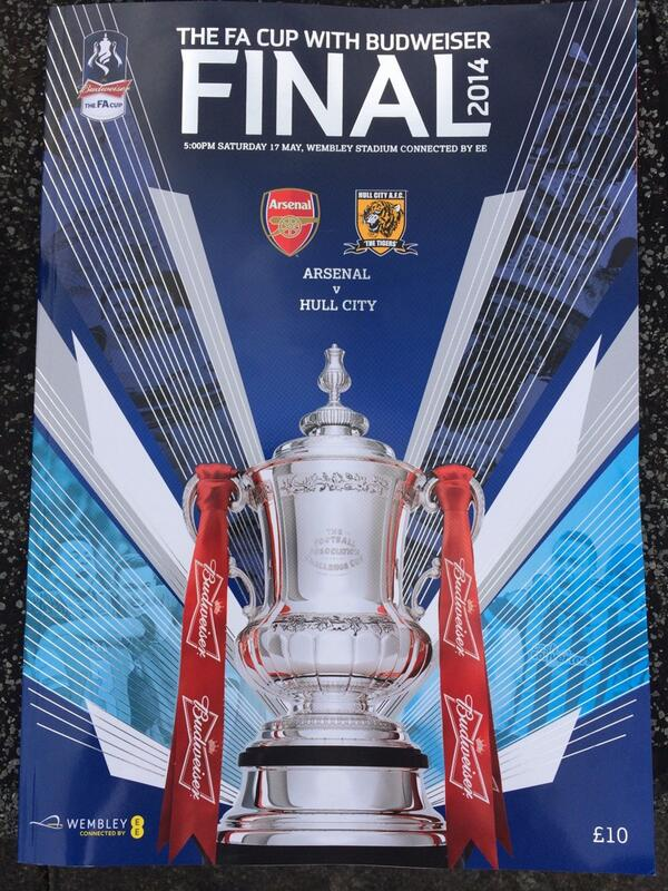 fa cup final programme arsenal hull Arsenal vs Hull City, 2013/14 FA Cup Final Open Thread