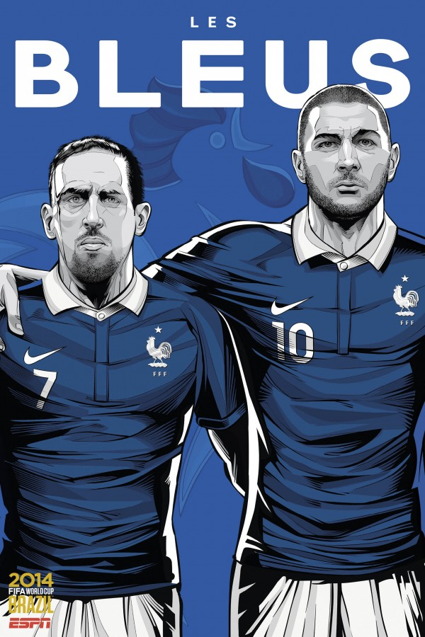 france world cup poster espn 600x900 France 0 0 Ecuador: Les Bleus Win Group E: Match Highlights (VIDEO)