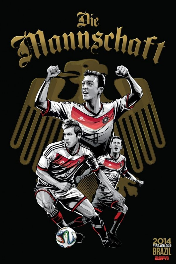 germany world cup poster espn 600x900 Predicted Lineups for Germany v. Ghana World Cup Game