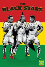 ghana world cup poster espn 150x225 View World Cup Posters For All 32 Teams At Brazil 2014 From ESPN