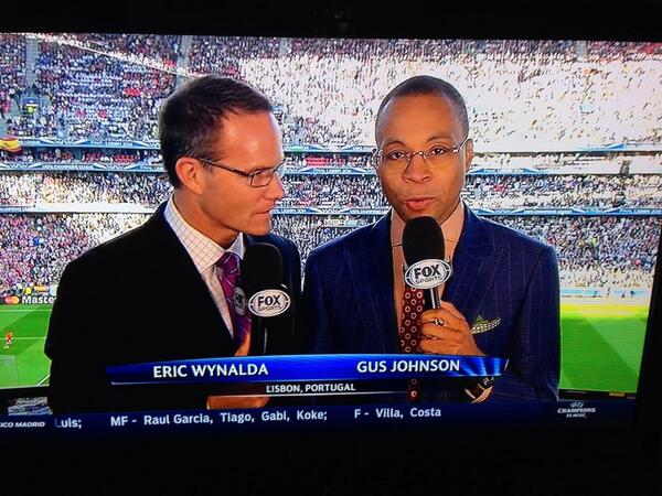 gus johnson eric wynalda From Bad to Worse, Gus Johnson and FOX Sports Coverage of Champions League Sinks to a New Low