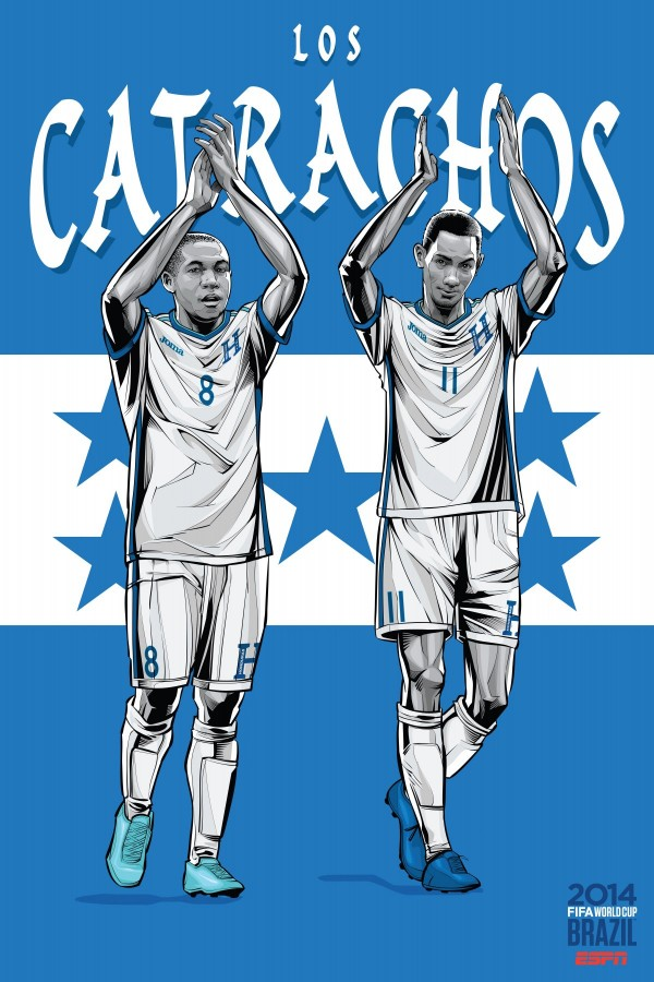 honduras2 600x900 View World Cup Posters For All 32 Teams At Brazil 2014 From ESPN