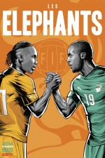 ivory coast world cup poster espn 150x225 View World Cup Posters For All 32 Teams At Brazil 2014 From ESPN