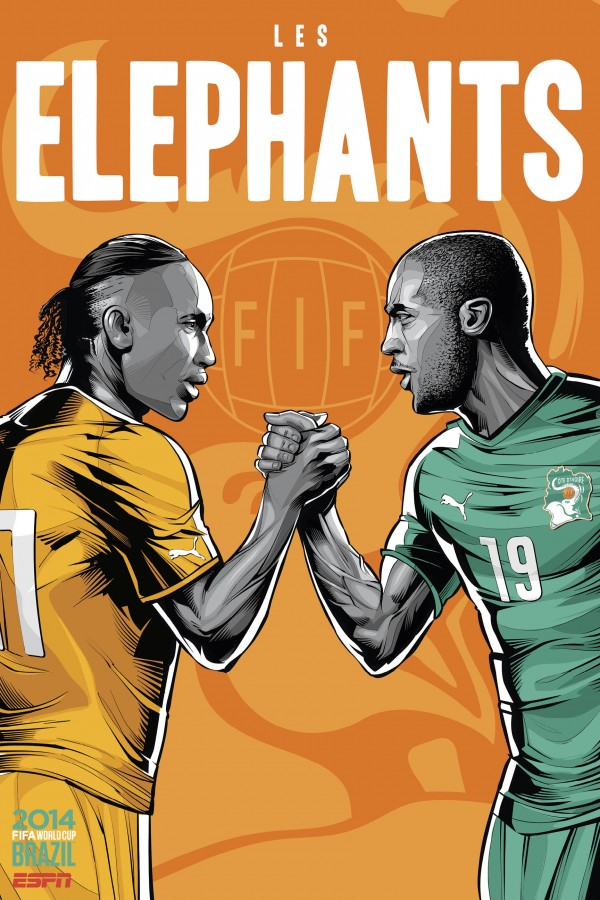 ivory coast world cup poster espn 600x900 Ivory Coast vs Colombia Preview