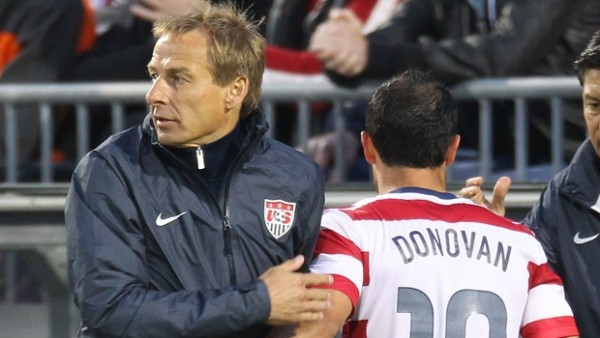 landon donovan jurgen klinsmann 600x338 USA Head Coach Jürgen Klinsmann Silences Critics With Winning Team Selection