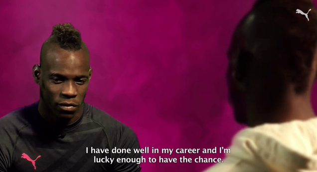 mario balotelli WATCH Mario Balotelli Interviewing Mario Balotelli About the World Cup and Italy [VIDEO]