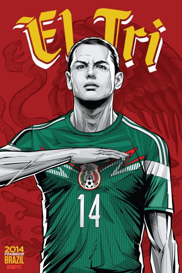 mexico world cup poster espn 600x900 Mexico Face Croatia in Biggest Test of 2014 World Cup