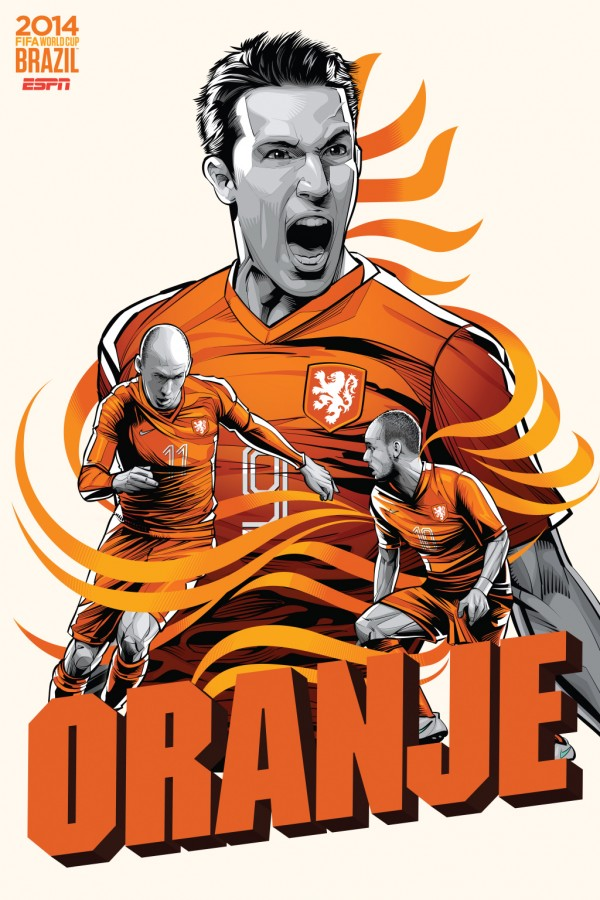 netherlands world cup poster espn 600x900 Can the Netherlands Return to the Final? Can They Win it All?
