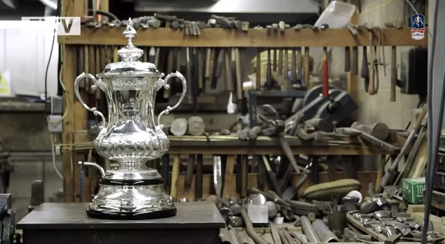 new fa cup trophy FA Cup Winner Will Lift a Brand New FA Cup Trophy [VIDEO]