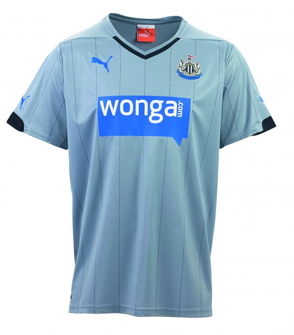 newcastle united away shirt front 600x684 Newcastle United Hit New Low With Gray Away Kit: Official [PHOTOS]