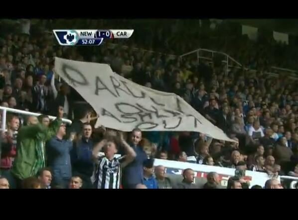 pardew out ashley out Newcastle United Fans Stage Walkout at St James Park Against Alan Pardew and Mike Ashley [VIDEO]