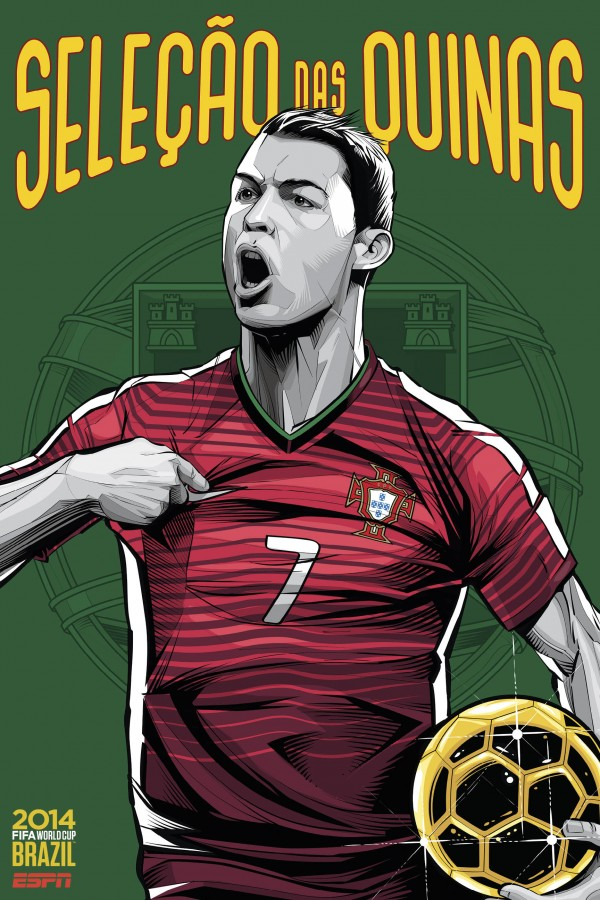portugal world cup poster espn 600x900 Portugals Cristiano Ronaldo May Miss Remainder of World Cup Due to Knee Injury, Says Report