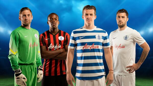 qpr shirts 2014 15 season QPR Home, Away And Third Shirts Unveiled for 2014/15 Season: Official [PHOTOS]