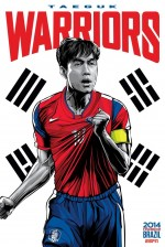 south korea world cup poster espn 150x224 View World Cup Posters For All 32 Teams At Brazil 2014 From ESPN