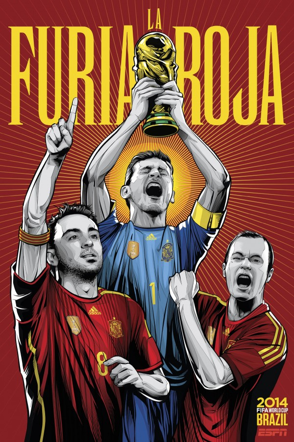 spain world cup poster espn 600x900 The End Of A Dynasty: Is This The End of Spains Reign?