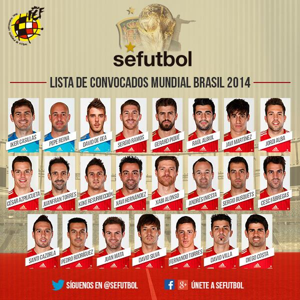 6a5613f82bd Spain Names 23-Man Squad For World Cup 2014: Several Stars Miss Out ...