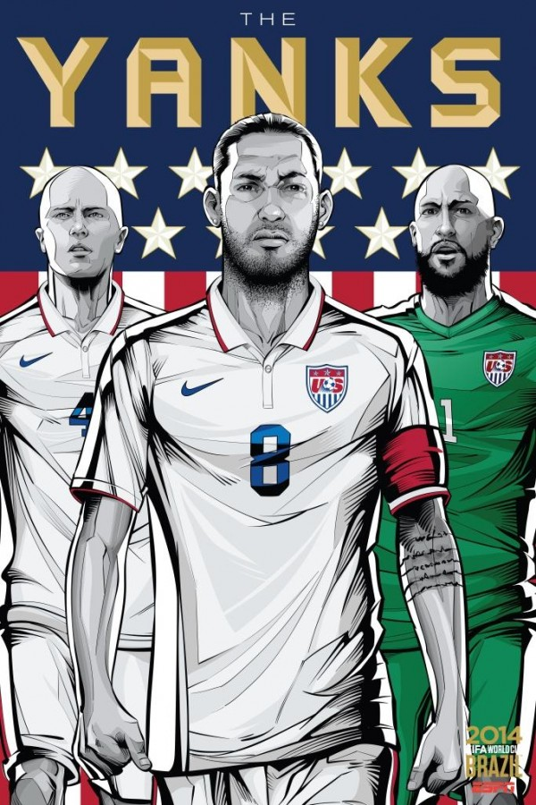 usa world cup poster espn 600x900 United States vs Ghana: Projected Starting XI For World Cup Clash
