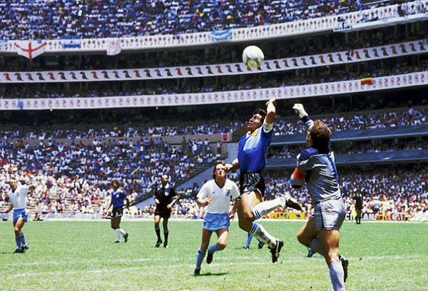 1 Maradona 600x408 Most Exciting World Cup Moments: Number 1 – Diego Maradona Magic [VIDEO]