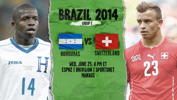 Honduras vs Switzerland: Starting Lineups And World Cup Open Thread