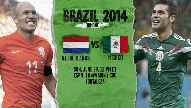 Netherlands vs Mexico: Starting Lineups, TV Times And World Cup Open Thread