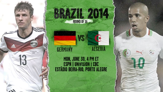 Germany vs Algeria: Starting Lineups, TV Times And World Cup Open Thread
