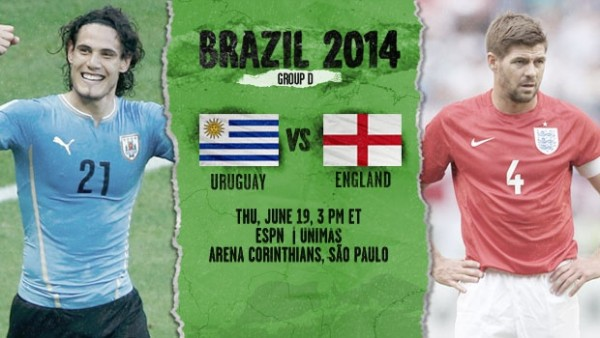 13 600x338 Uruguay vs England: Starting Lineups And World Cup Open Thread