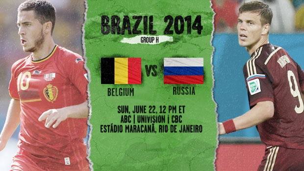 Belgium vs Russia: Starting Lineups And World Cup Open Thread