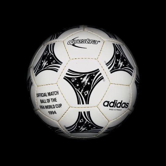 19 1994 World Cup Questra View a Gallery of Soccer Balls Used by FIFA Since the First World Cup in 1930