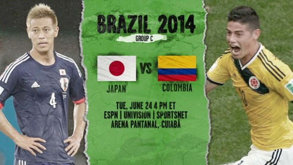 19 600x338 Japan vs Colombia: Starting Lineups And World Cup Open Thread