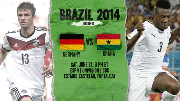 Germany vs Ghana: Starting Lineups And World Cup Open Thread