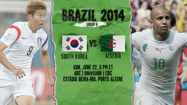 Korea Republic vs Algeria: Starting Lineups And World Cup Open Thread