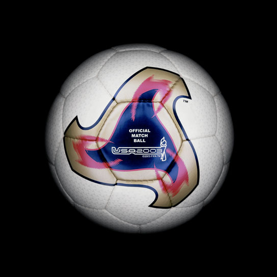23 2003 Woman World Cup Fevernova Women View a Gallery of Soccer Balls Used by FIFA Since the First World Cup in 1930