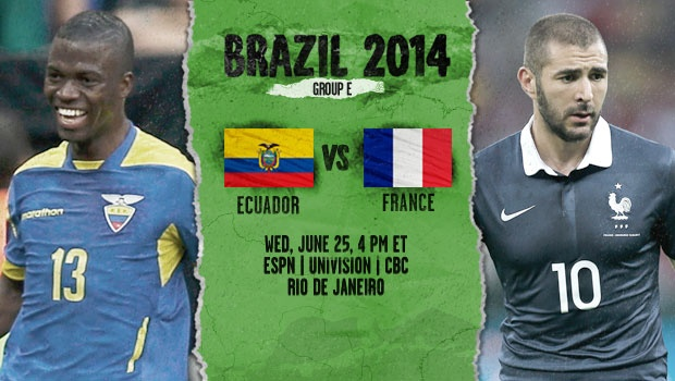 Ecuador vs France: Starting Lineups And World Cup Open Thread