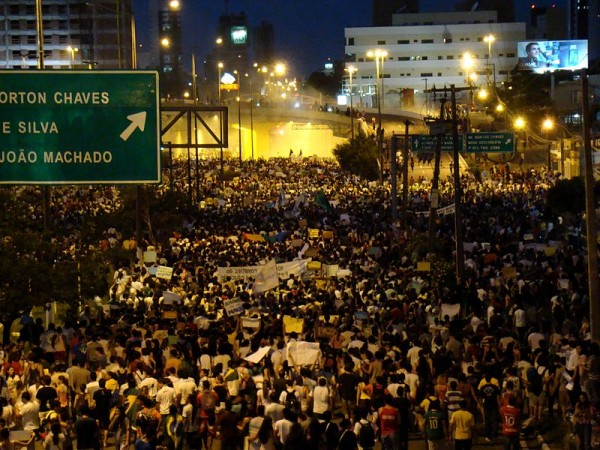 Brazil protests 600x450 The Other World Cup Story – The Brazil Protests and FIFAs Future
