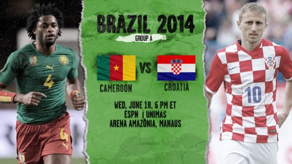 Cameroon Croatia 600x338 Croatia and Cameroon Preview and Predicted Lineups