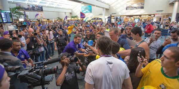 KakaOIA2 Brazilian Superstar Kaka Mobbed By Orlando City Fans At Airport [PHOTOS]