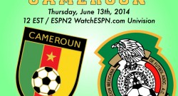Mexico versus Cameroon World Cup 2014 Group A