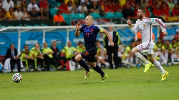 Robben 600x336 Sensational Arjen Robben On Course For World Cup Redemption With Netherlands
