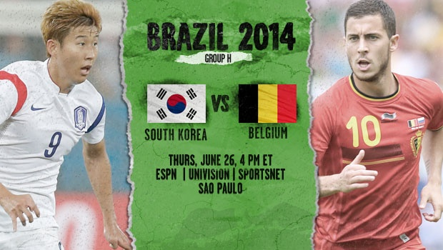 Belgium vs South Korea, Starting Lineups and World Cup Open Thread