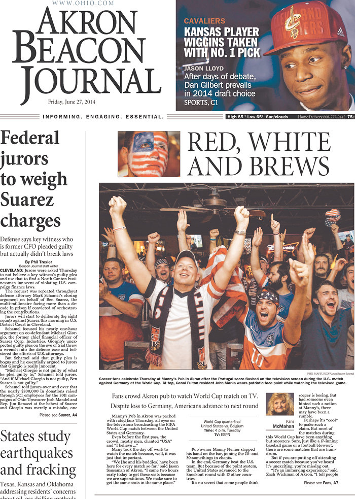 Front Covers Of Newspapers After USA Advance In World Cup [PHOTOS]