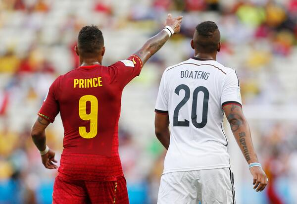 boateng brothers WATCH Ghanas Asamoah Gyans Crazy Celebration Dance Against Germany [GIF]