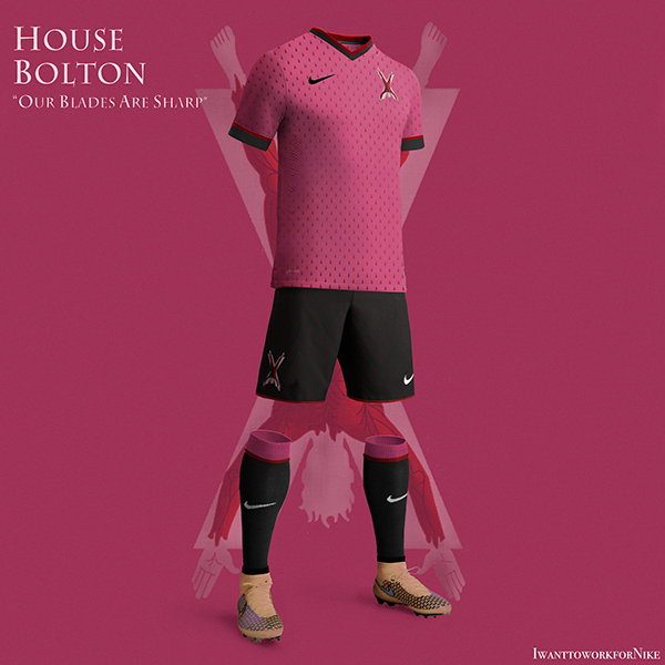 bolton 9 Kit Designs for Game of Thrones Houses