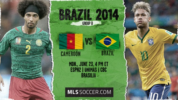brazil cameroon Brazil vs Cameroon, Starting Lineups and World Cup Open Thread