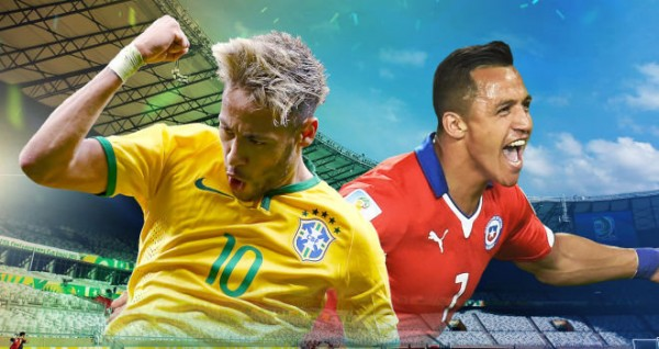 brazil chile 600x318 Predicted Lineups for Brazil vs Chile