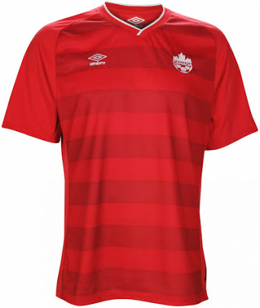 canada home shirt front Review of Canadas 2014 Home Kit From Umbro